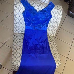 Blue Prom Dress w/ train